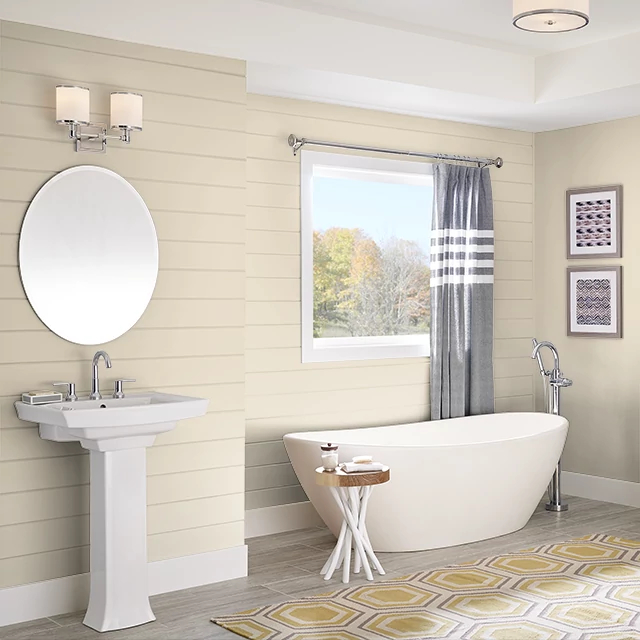 Bathroom painted in NAVAJO WHITE