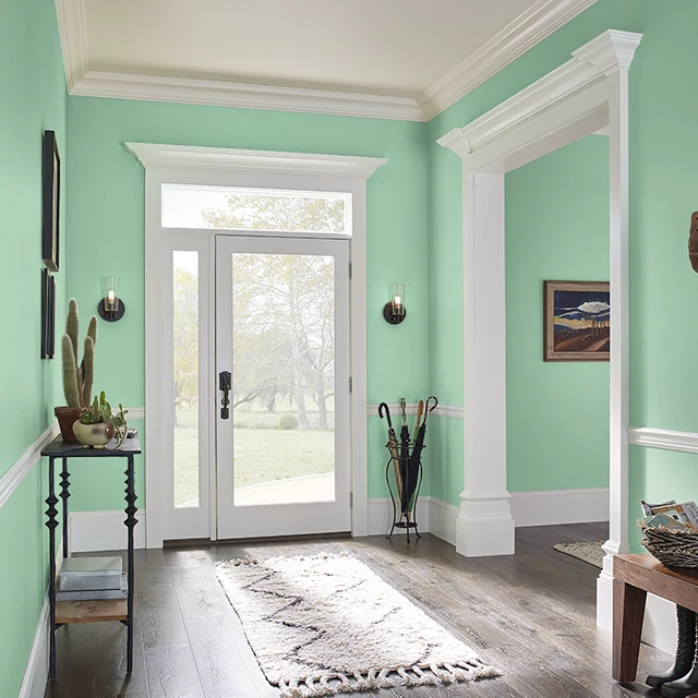 Foyer painted in CAESAR SALAD