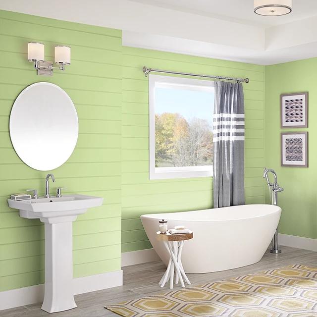 Bathroom painted in TREE LINE