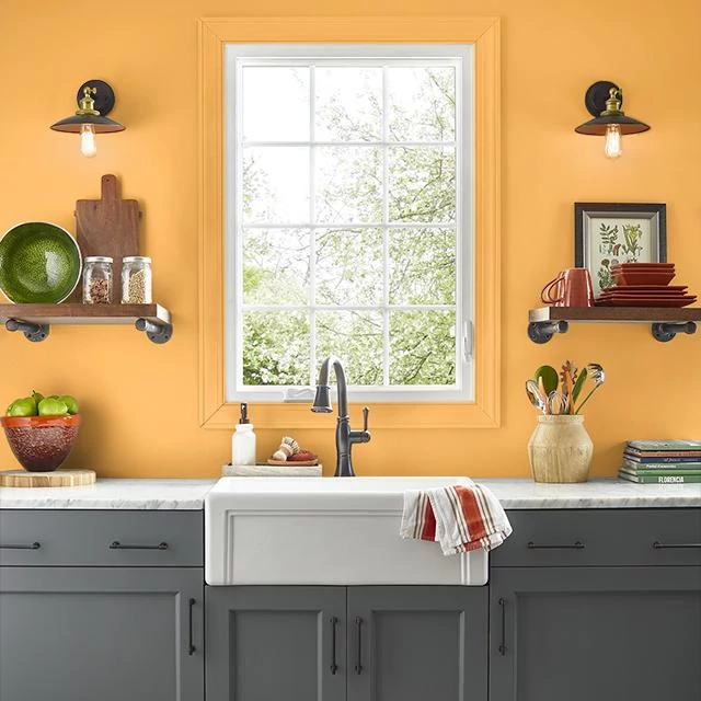 Kitchen painted in ALOHA