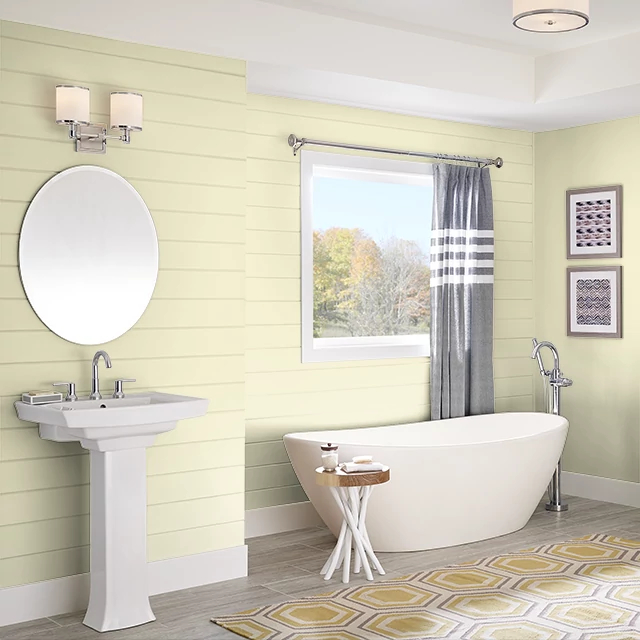 Bathroom painted in LEMON ICE