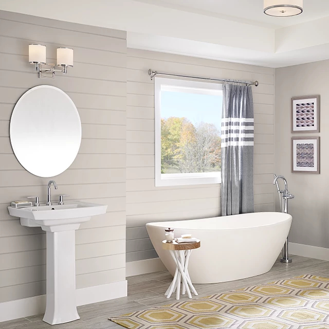 Bathroom painted in IMPRESSIONIST TAUPE