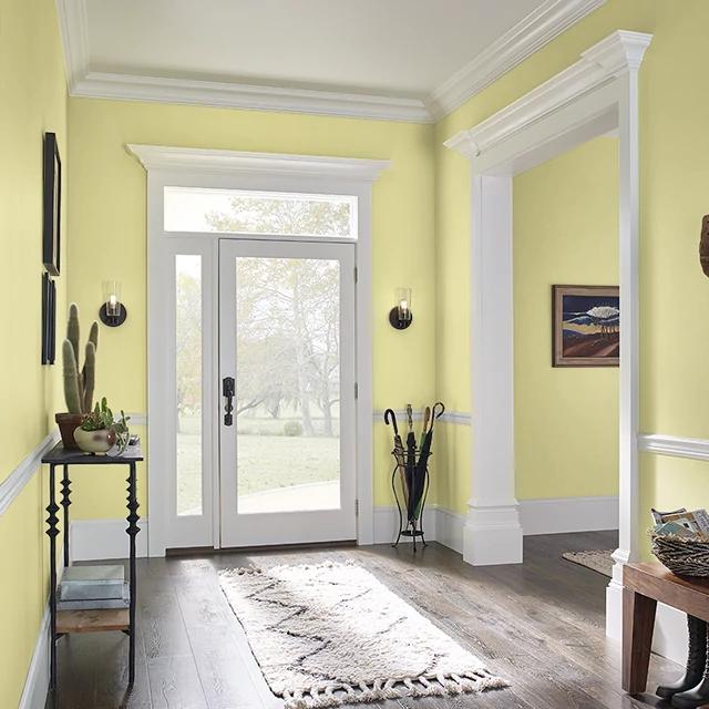 Foyer painted in ARTICHOKE HEART