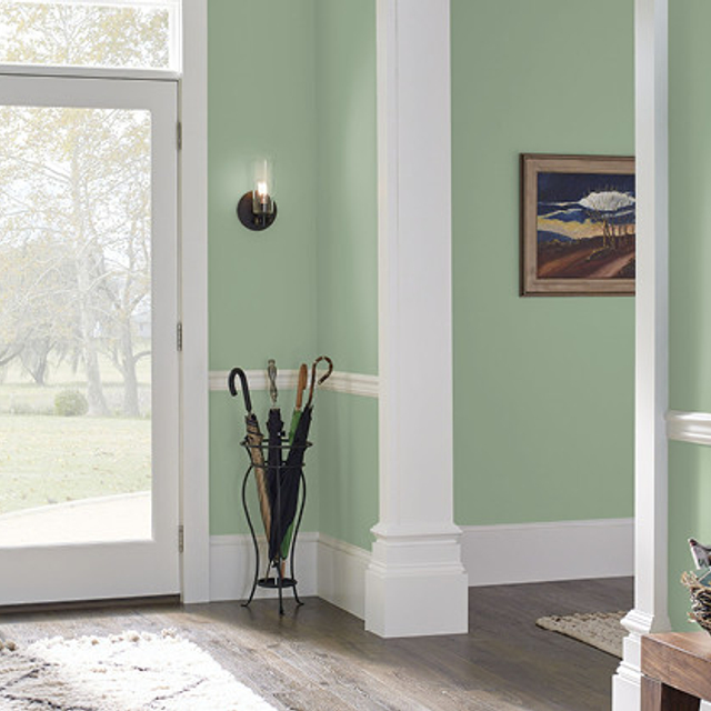 Foyer painted in PANORAMIC TRAIL