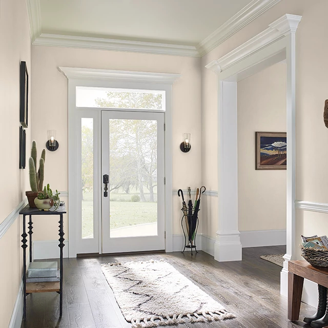 Foyer painted in SOFT PALM
