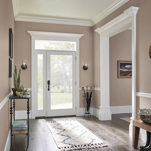 Foyer painted in CLOVE
