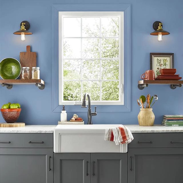Kitchen painted in JUST CHILL