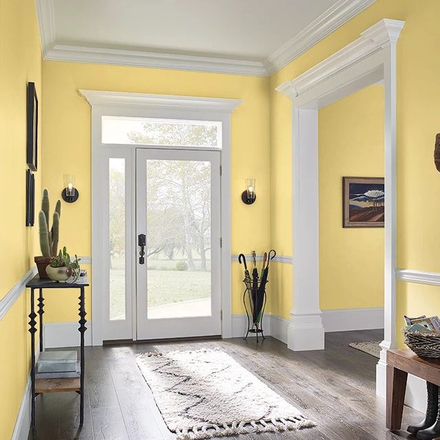 Foyer painted in GLORY YELLOW