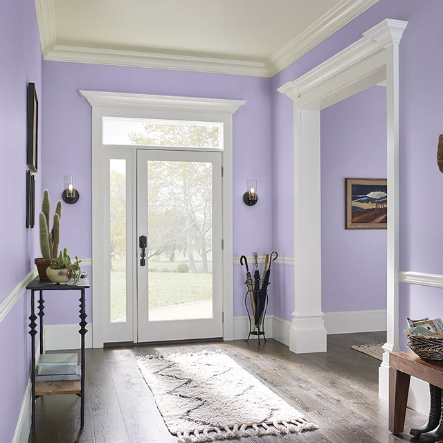 Foyer painted in GINGER LILY