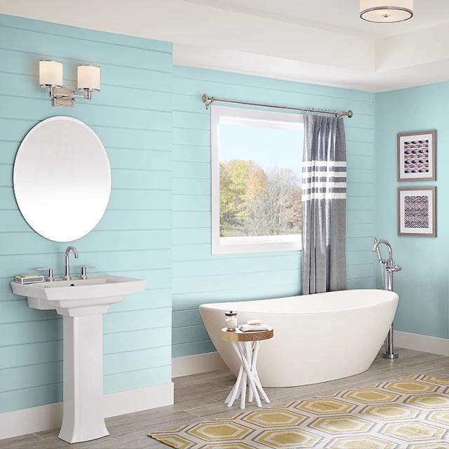 Bathroom painted in EASTERN PROMISE