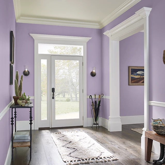 Foyer painted in MYSTIC PETALS