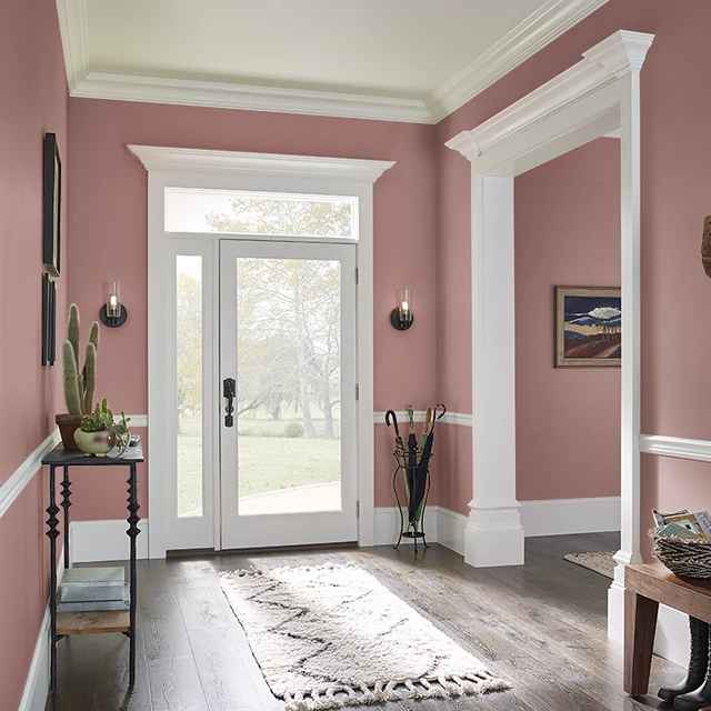 Foyer painted in SPANISH SHERRY