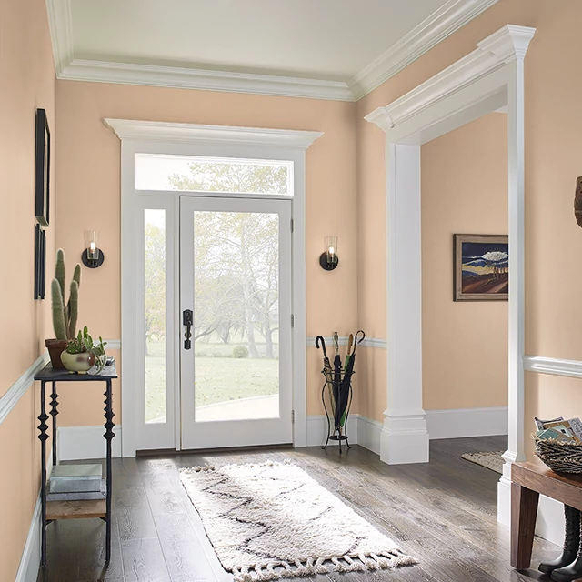 Foyer painted in SUMMER MELON