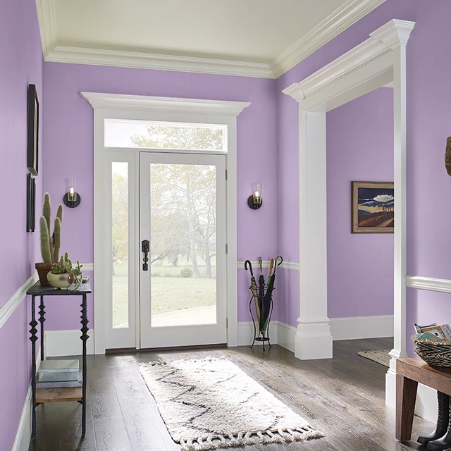 Foyer painted in FRUIT PUNCH