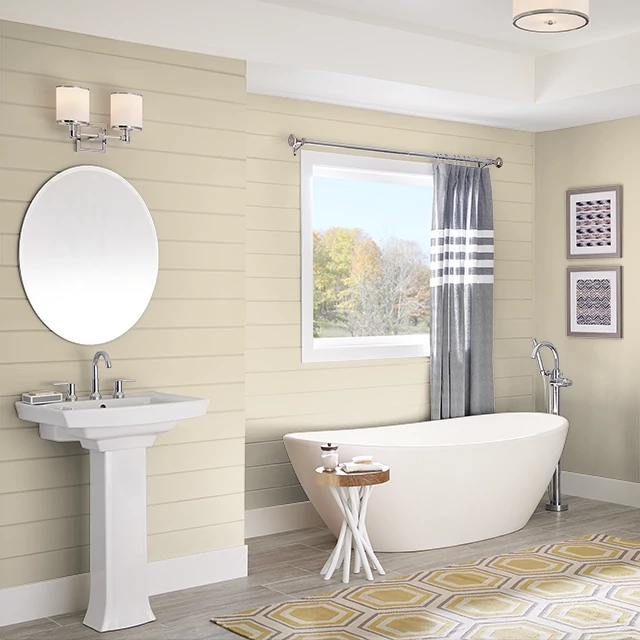 Bathroom painted in PALE GOLD
