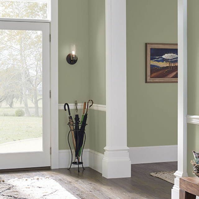 Foyer painted in ALMOST SAGE