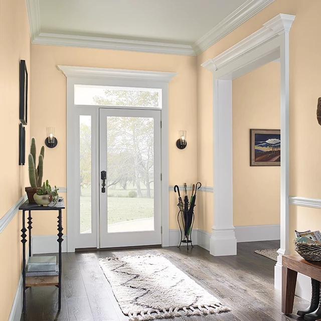 Foyer painted in AMBER LIGHT