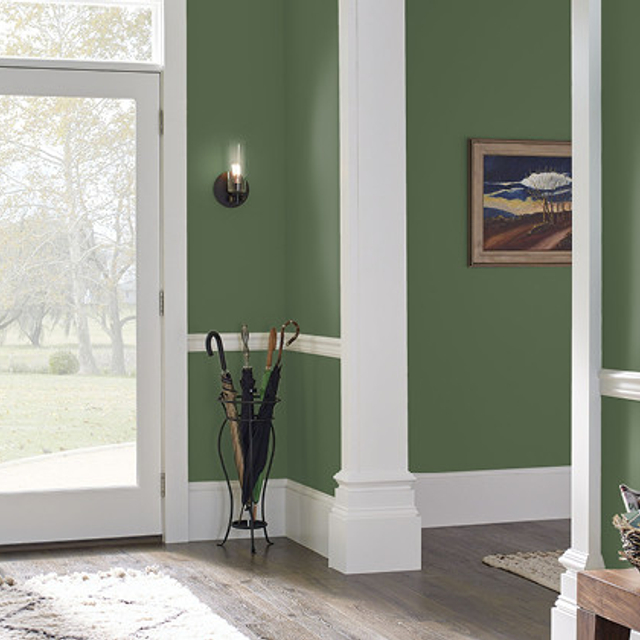 Foyer painted in PEACEFUL FOREST