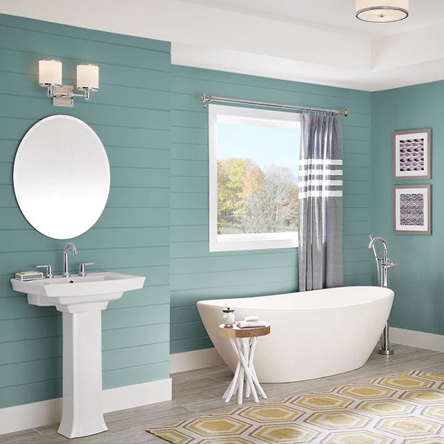 Bathroom painted in VIRTUE