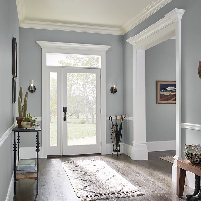 Foyer painted in SERVING PLATTER