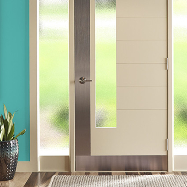 Entryway painted in TROPICAL ESCAPE