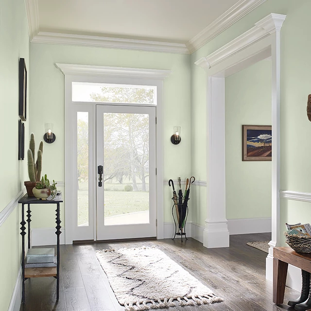 Foyer painted in CLEAR CREEK