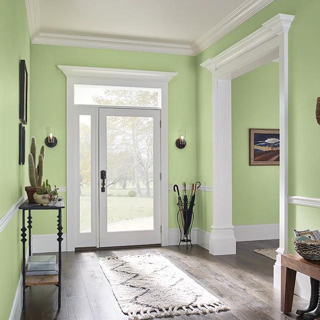 Foyer painted in SUCCULENT GARDEN