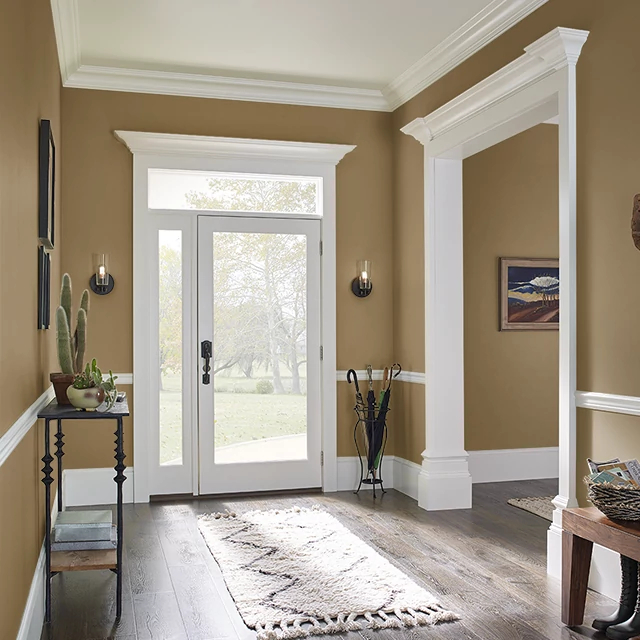Foyer painted in TEA AND HONEY