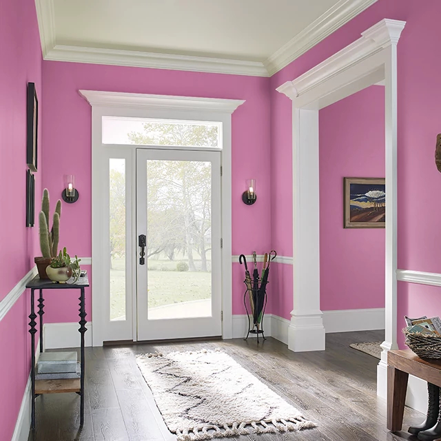 Foyer painted in PLUMERIA LEI