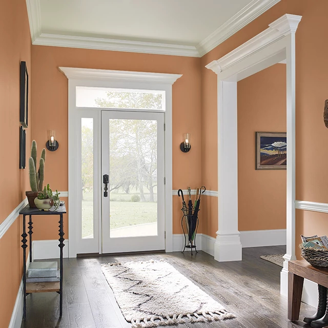 Foyer painted in NUTMEG SPICE