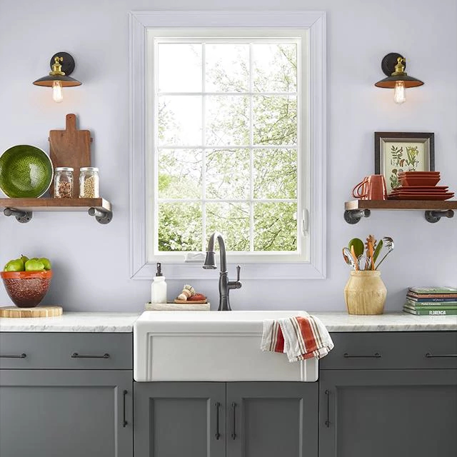 Kitchen painted in TWILIGHT SPELL