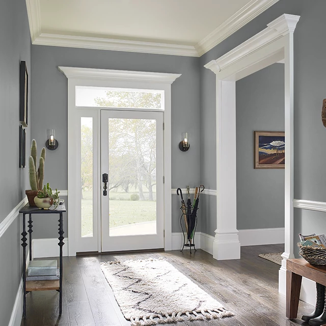 Foyer painted in CHIPPED GRANITE