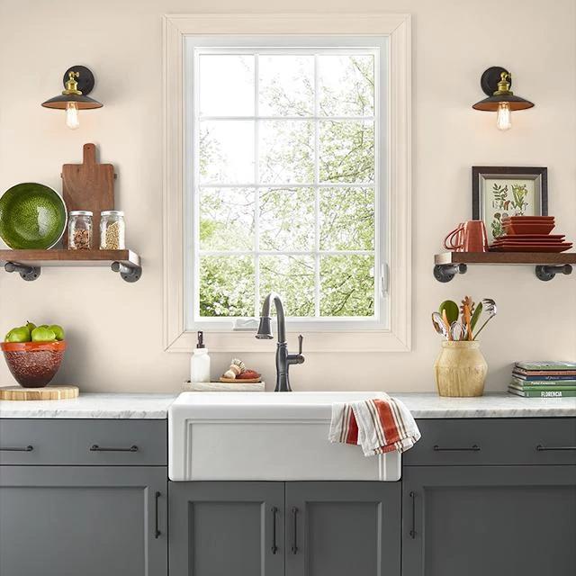 Kitchen painted in SOFT PALM