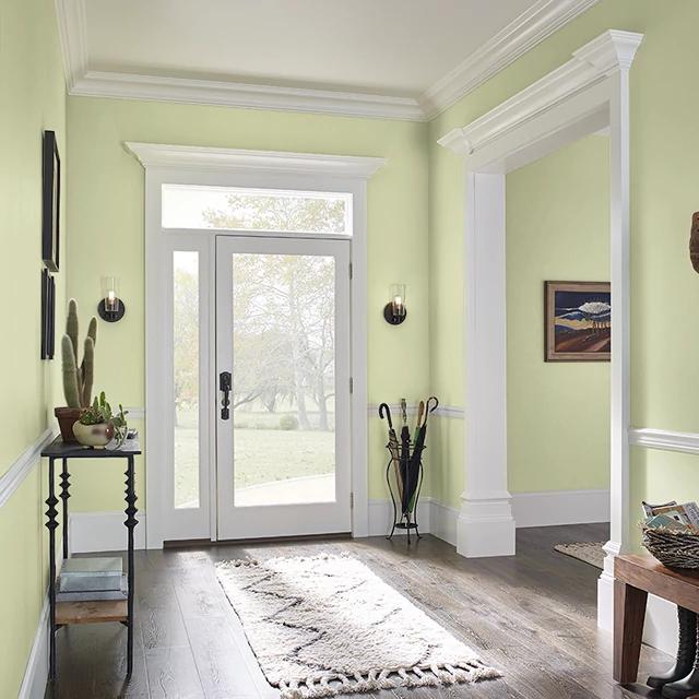 Foyer painted in WHISPERING ASPENS