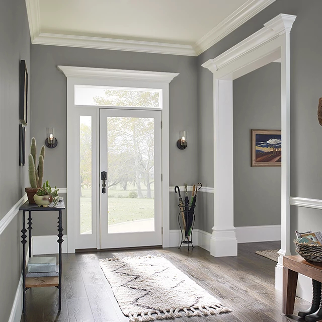 Foyer painted in SMOKEY EYES