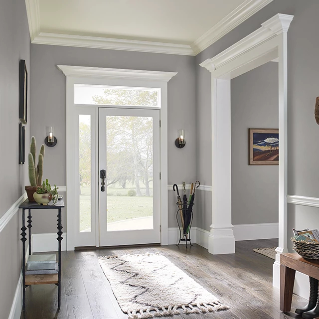 Foyer painted in ART CRITIQUE