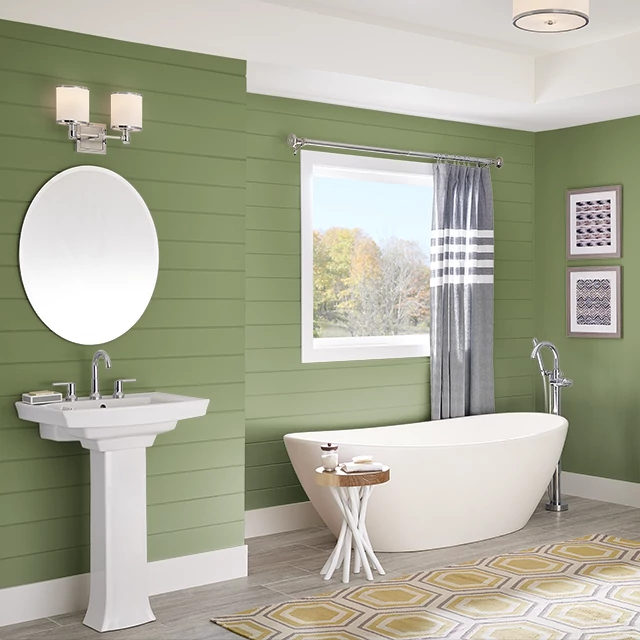 Bathroom painted in BAMBOO FOREST