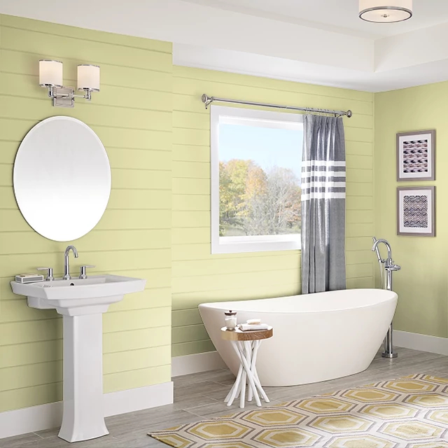 Bathroom painted in SHIMMERING GREEN