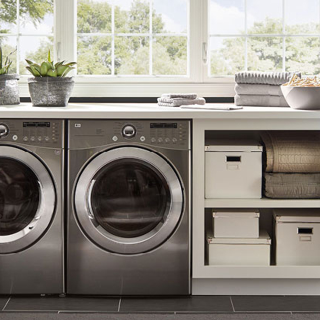 Laundry painted in MYSTIC BLACK