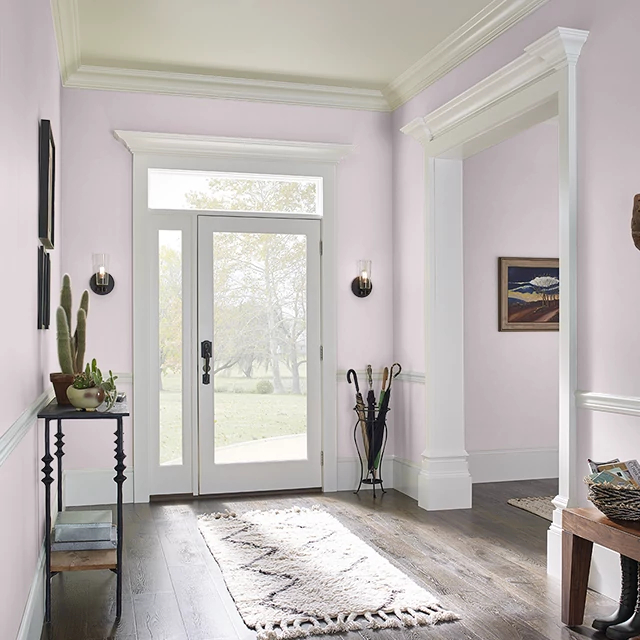 Foyer painted in BRIDAL BLUSH