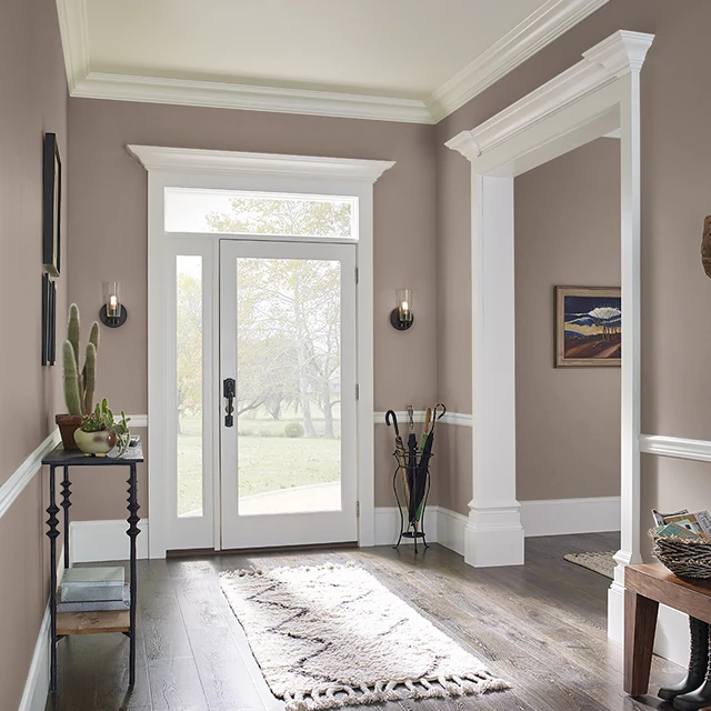 Foyer painted in CHOCOLATE ALMOND