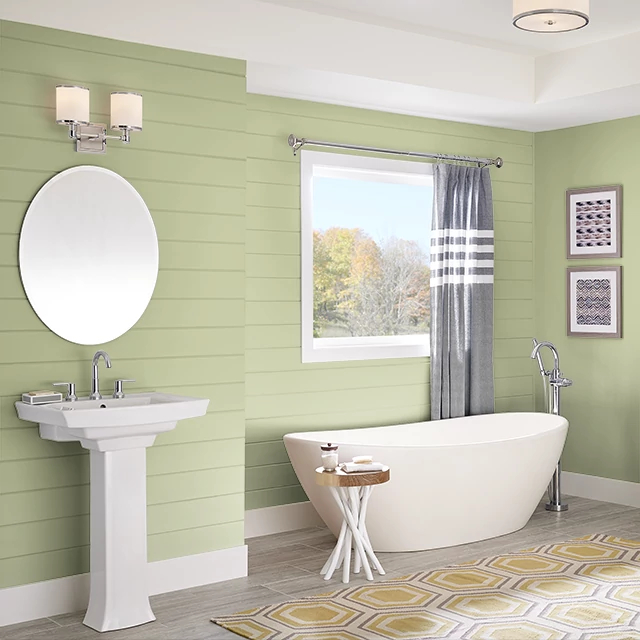 Bathroom painted in KIWI