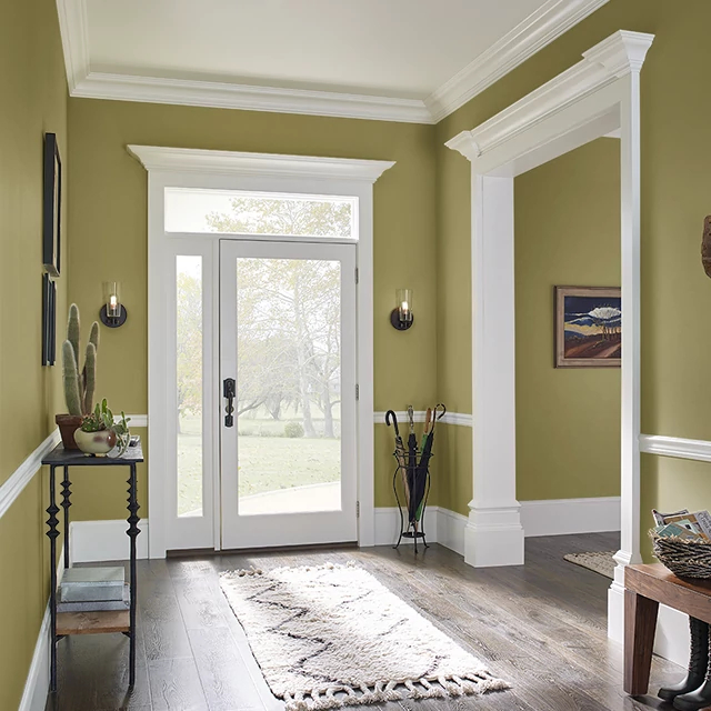 Foyer painted in OLIVERY