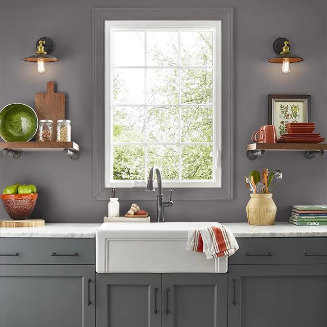 Kitchen painted in SPACE