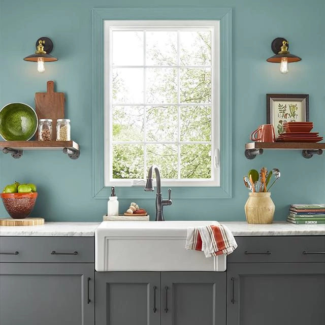Kitchen painted in VIRTUE