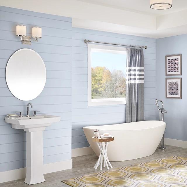 Bathroom painted in SHEER SILHOUETTE
