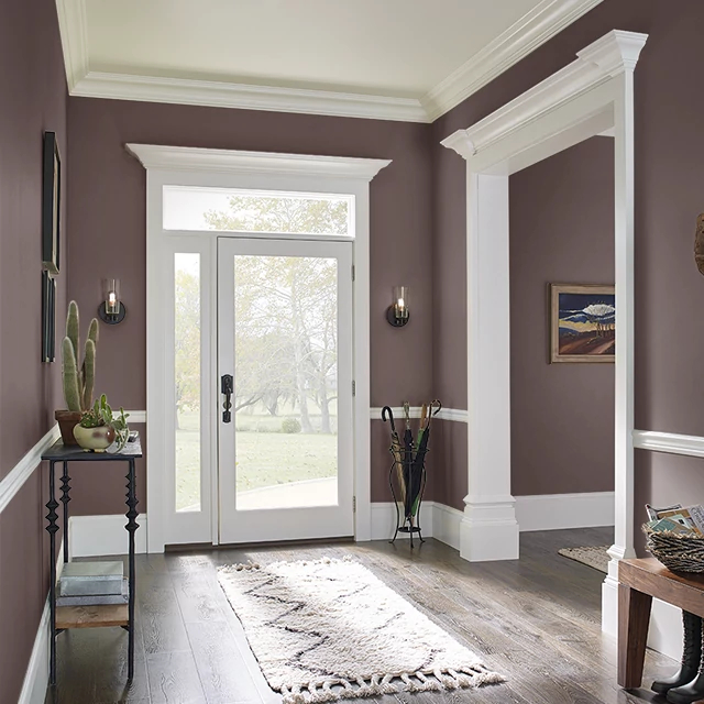 Foyer painted in BURNT CLAY