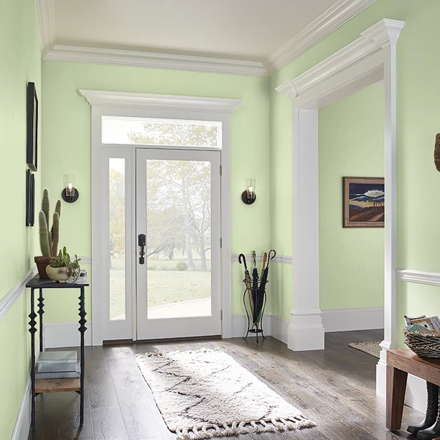 Foyer painted in MELON EXTRACT