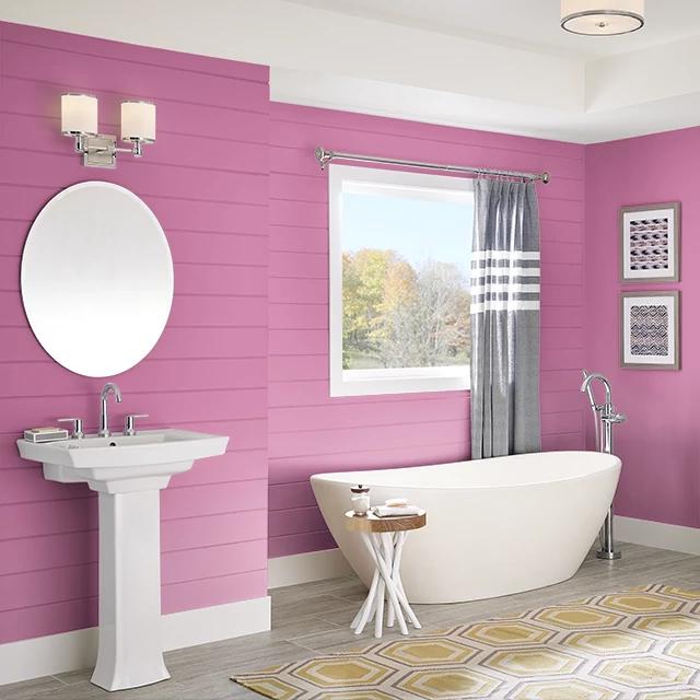 Bathroom painted in PLUMERIA LEI