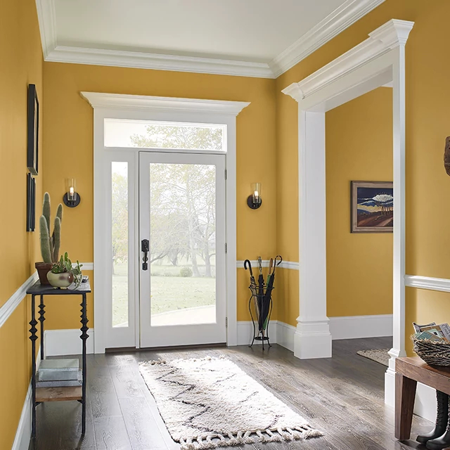 Foyer painted in OCTOBER LEAF